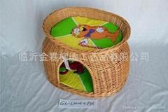 柳編寵物籃
