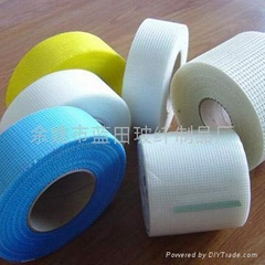 Glass fibre self-affixing belt