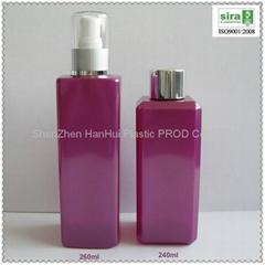 empty square bottle,pet plastic lotion bottle