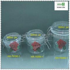 pet plastic seal jar,facial cream jar