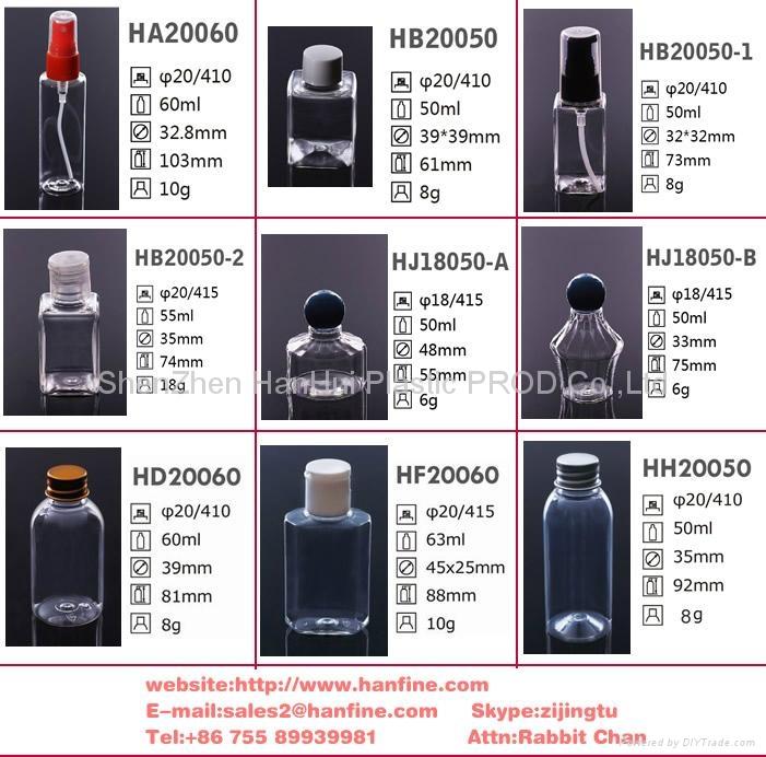 100ml旅行套装塑料瓶 洗护套装塑料瓶 pet塑料瓶 2