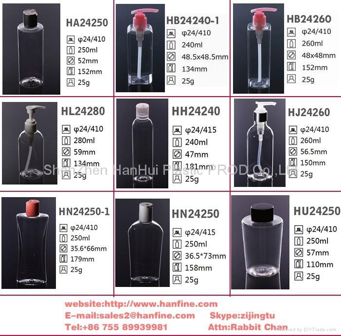 100ml旅行套装塑料瓶 洗护套装塑料瓶 pet塑料瓶 3