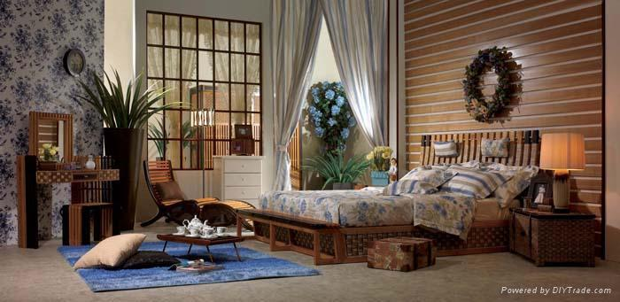 藤家具;沙发,床,台,椅子; 1