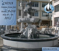 Public park fountain