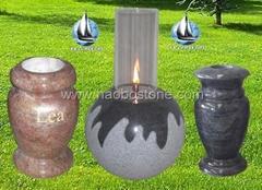 Granite lanterns ,vase