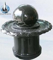 Water-floating ball in granite shanxi black