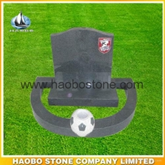 Granite tombstone from h