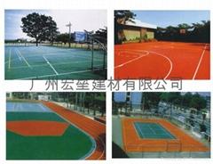 丙稀酸籃球場地坪