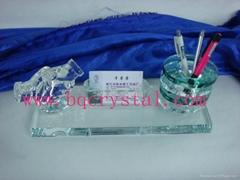 水晶笔筒水晶工艺品