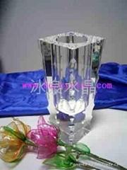 水晶花瓶摆件