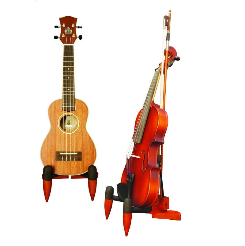 Wooden Violin & Ukulele Stands 1