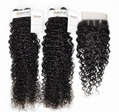 Brazilian Curly Unprocessed Virgin Hair for Salon (Grade 9A)