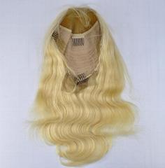 Blonde Human Hair Front