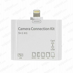 New Light 5+1 in 1 Camera Connection Kit Card Reader For iPad mini iPad 4