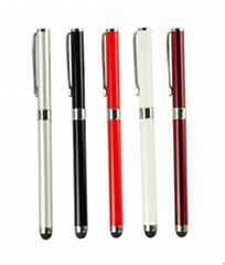2in1 Metal Body Capacitive Touch Stylus Pen with Ball Point Pen For iPhone iPad
