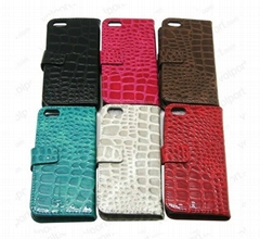 Crocodile Skin Leather Case for iPhone5