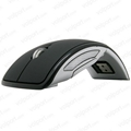 Mini USB 2.4Ghz Snap-in Transceiver Optical Foldable Folding Arc Wireless Mouse