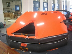 Throw-over type inflatable life raft Type A