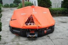 Davit-launching Type inflatable life raft Type D