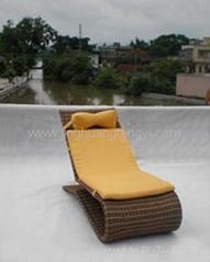 藤制户外沙滩椅