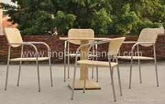 藤藝不鏽鋼傢具