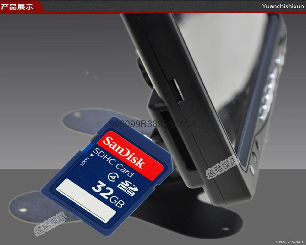 7寸SD卡录像显示器拍照存储回看一体机 3