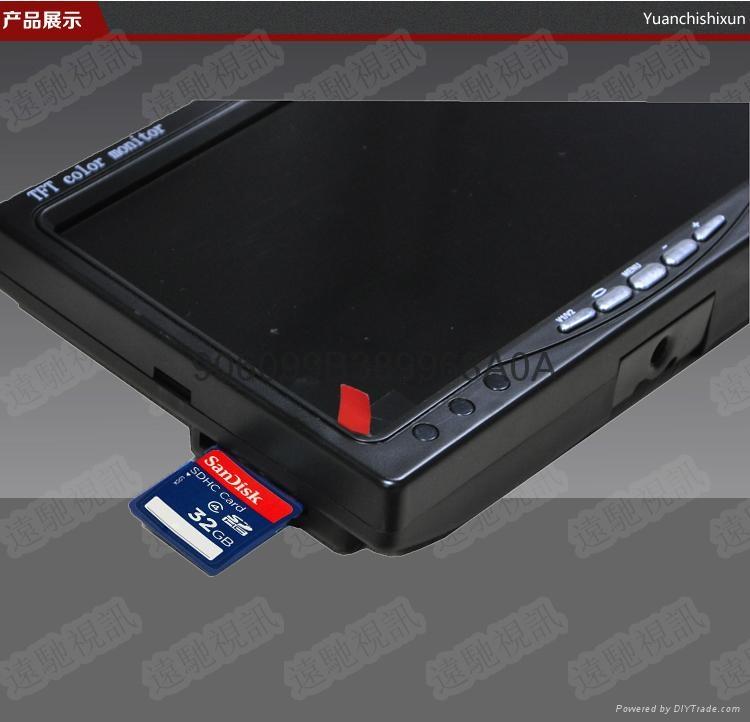 7寸SD卡录像显示器拍照存储回看一体机 4