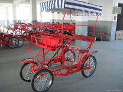 四輪腳踏觀光車