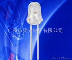 Φ5子彈頭專利白光LED燈珠