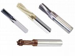 合金螺紋銑刀可高速加工多種孔徑的螺紋銑刀