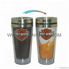 Stainless Steel Color Changing Mug