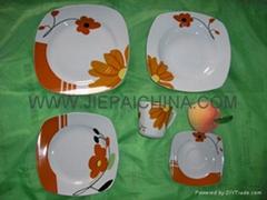 白瓷方形餐具