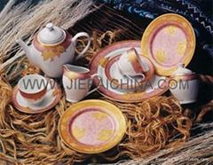 Porcelain dinner set,Vajilla de porcelana