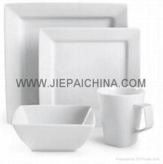 Porcelain square dinner set,Porcelana cena conjunto