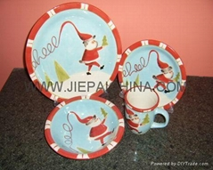 Stoneware hand painted dinner sets