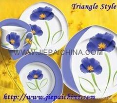 Porcelain Triangle dinner set
