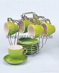 陶瓷杯碟 咖啡杯碟 炻瓷杯碟 白瓷杯碟