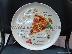 陶瓷比萨盘 白瓷餐盘 鱼盘