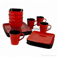 ceramic color-glazes dinner sets, bowl,cup and saucer