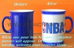 ceramic color changing mug,porcelain magic mug cup Taza de café de cerámica