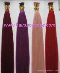 High Quality pre-bonded Hair, Nail Hair, Stick Hair, Flat Hair, Wigs Hair