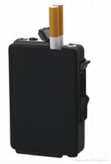 Automatic cigarette case with lighter