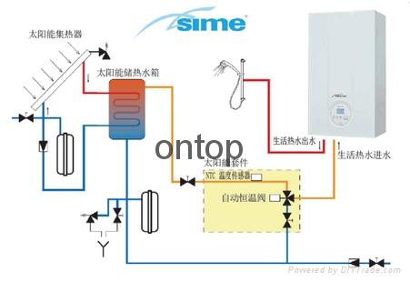 意大利原装可以供暖的燃气热水器 3