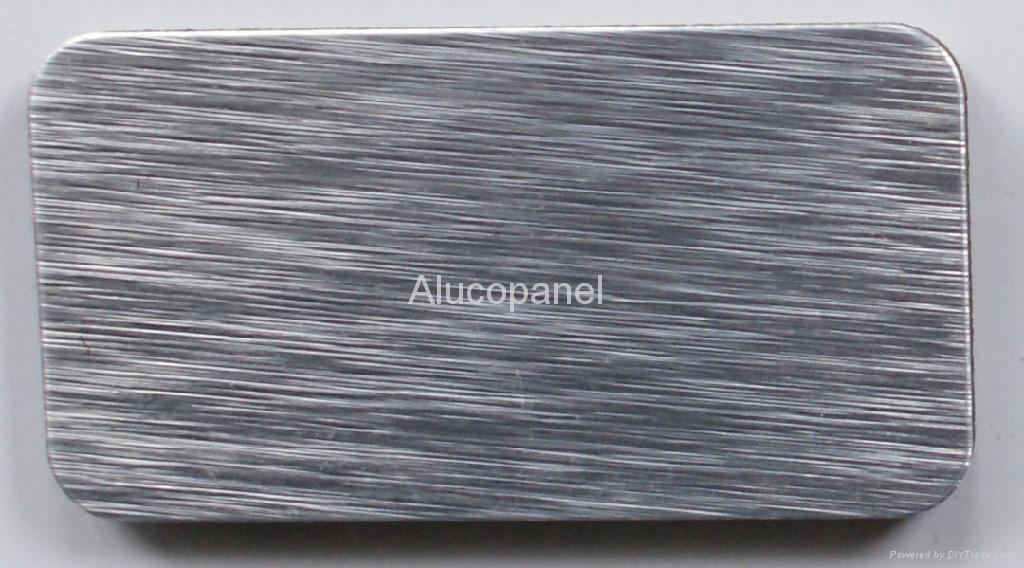 Aluminum Composite Panel Manufacturers : Silver brushed aluminium composite panel china
