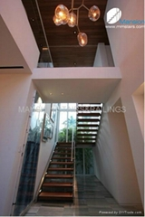 Steel Stairs with LED Lights