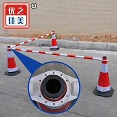 塑料制定加工PVC路锥连杆反光路锥警示管---优之佳美塑胶有限公司