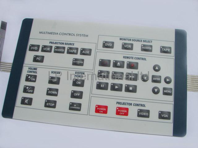 overlay label button panel charger canada membrane switch metal dome 2