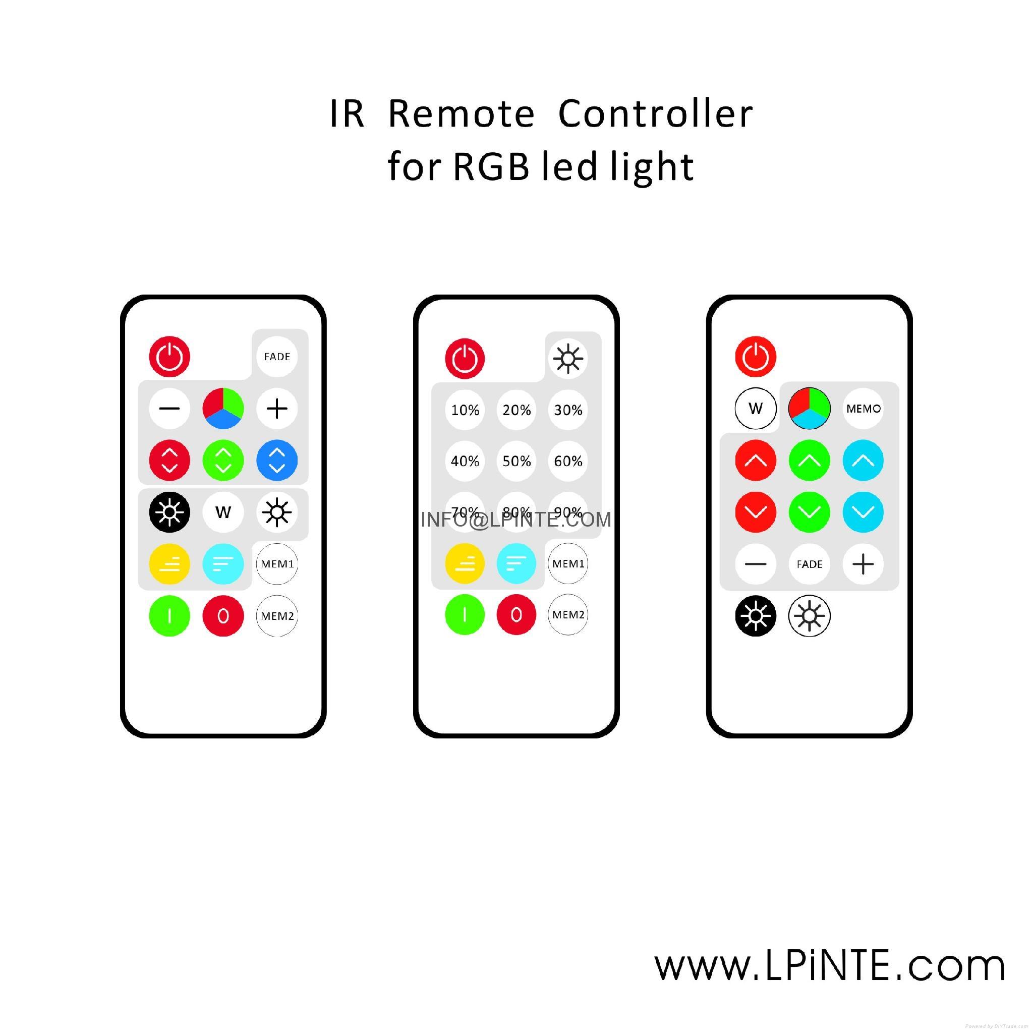 rf wireless rgb light remote controller