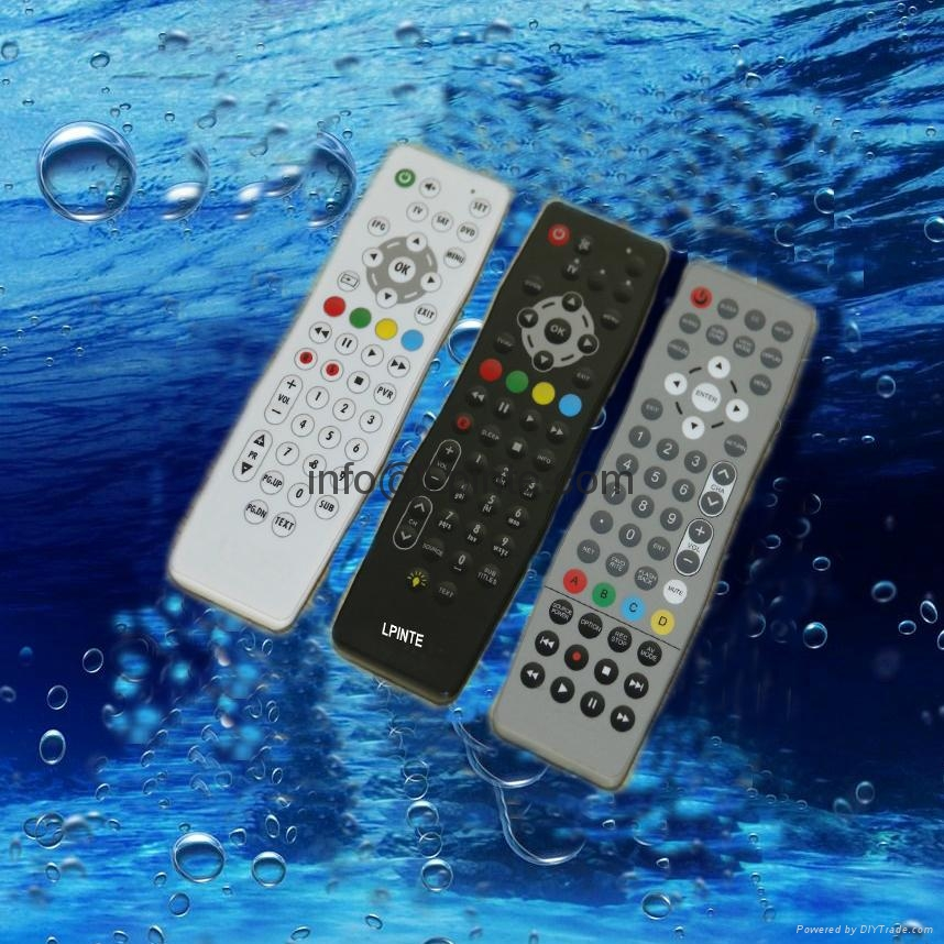 waterproof remote control LPI-W053 for hotel tv mirror tv hidden tv android box  3