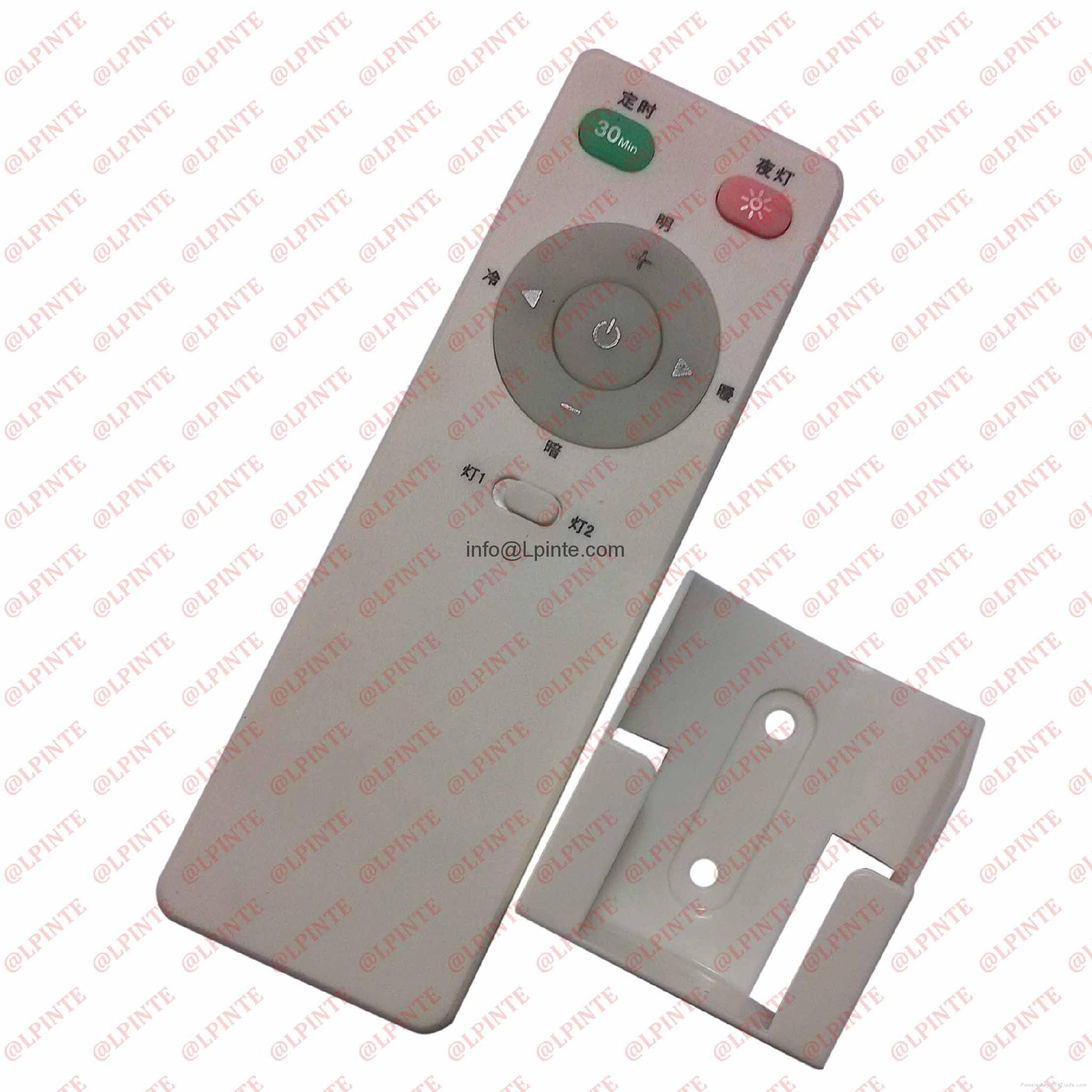 audio media tv remote control 7 keys rubber botton with holder LPI-R07B 1